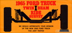1965 Ford Trucks Twin I-Beam Survey brochure