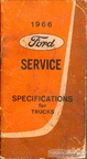 1966 Ford Trucks Service Specifications booklet