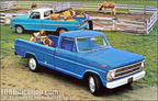 1968 Ford Truck factory advertising postcards