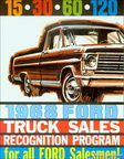 1968 Ford Truck Sales Recognition Program (for Salesmen)