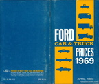 1969 Ford Car and Truck Prices salesman's booklet