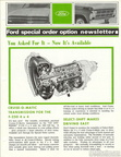 1969 Ford Special Order Option Newsletter - Cruise-O-Matic for F250 4x4