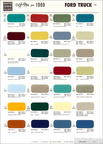 1969 Ford Trucks Martin Senour paint chip sheet