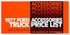 1977 Ford Truck Accessories Price List