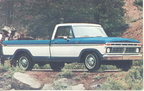 1977 Ford Truck advertising postcards