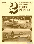 1969 Ford 'Contractors Special' / 'Farm & Ranch Special' info sheet