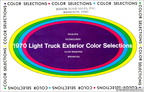 1970 Light Truck Exterior Color Selections pamphlet