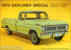 1970 Ford Truck advertising postcards