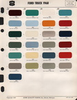 Acme paint chip sheet for '68 Ford trucks