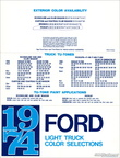 1974 Ford Light Truck Color Selections brochure