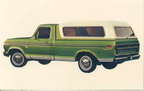 1974 Ford Truck advertising postcards