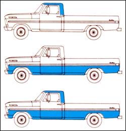 Ford F Paint Code  Original Paint Scheme