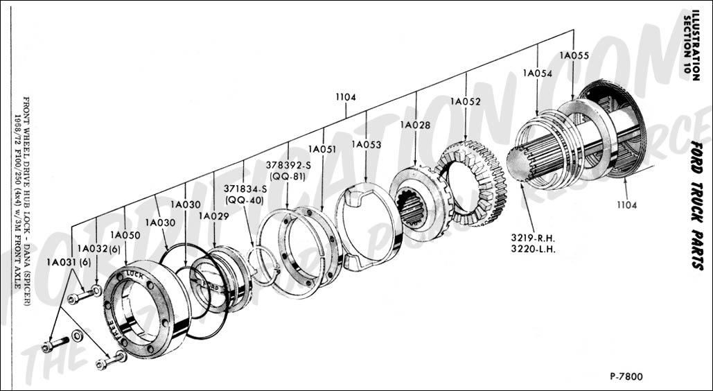 1994 f250 front axle diagram