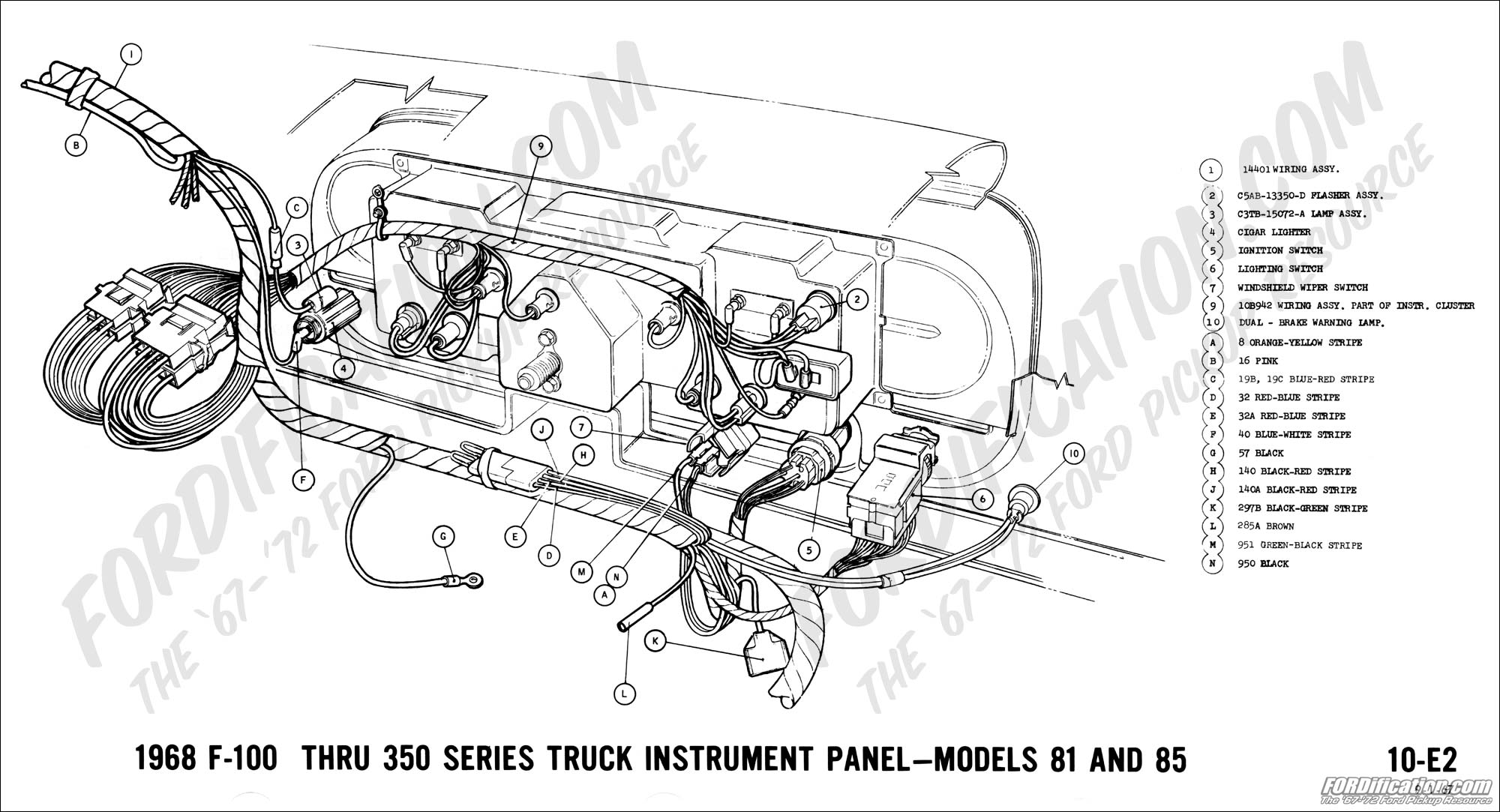 68 04 ford truck technical drawings and schematics section h wiring 1999 Ford F-250 Wiring Diagram at n-0.co