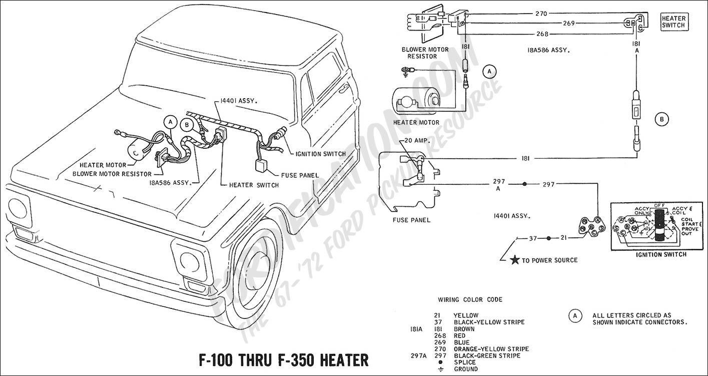 69wiring_heater ford truck technical drawings and schematics section h wiring 1973 ford f 250 fuse box at webbmarketing.co