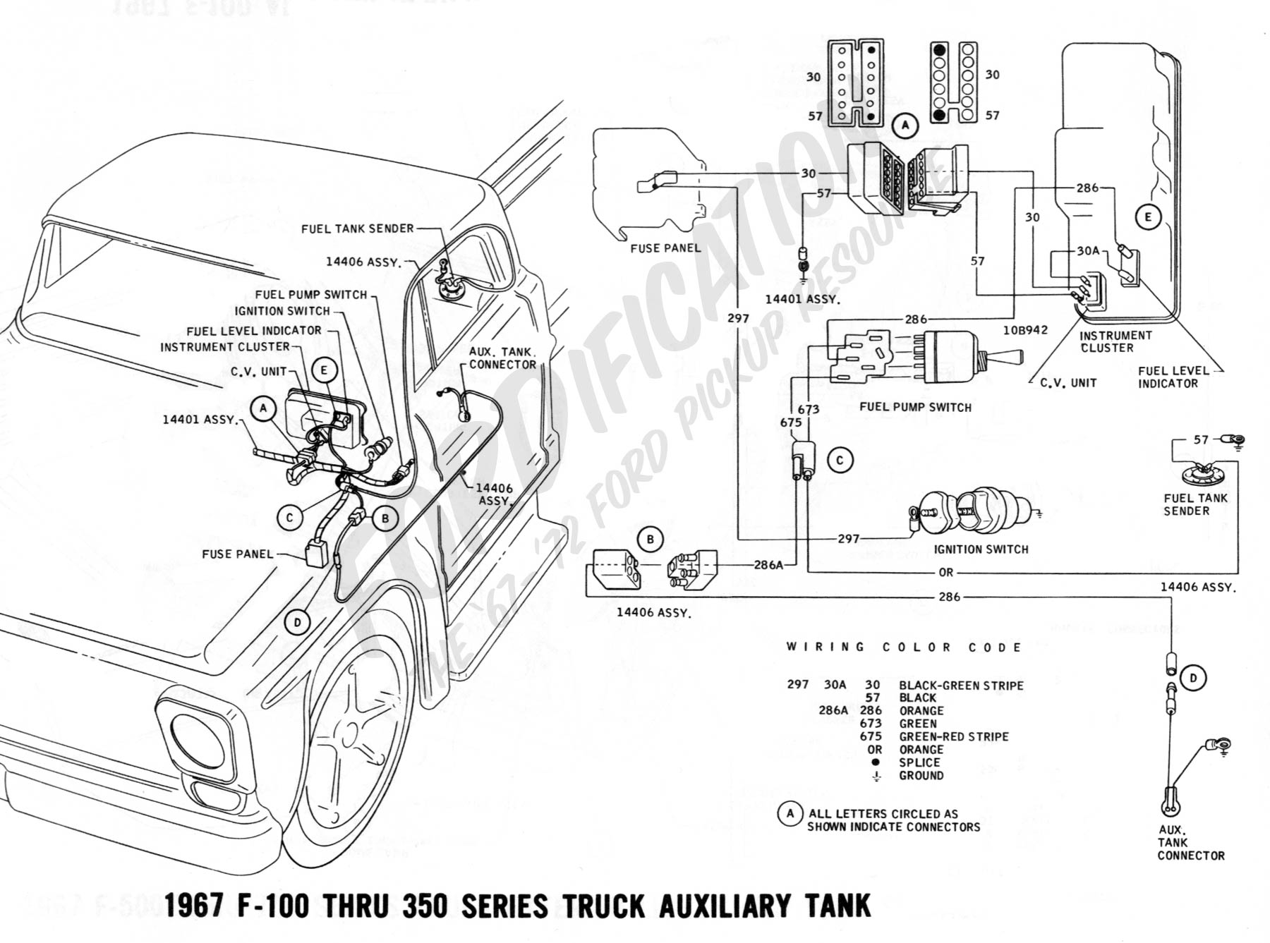 wiring 1967auxtank ford truck technical drawings and schematics section h wiring 1986 Ford F-150 Wiring Diagram at readyjetset.co