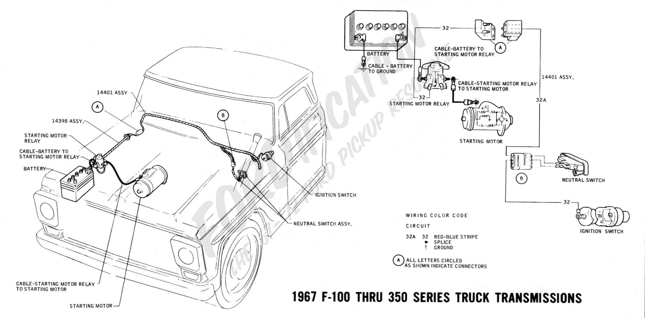 wiring 1967trucktranny ford truck technical drawings and schematics section h wiring Ford F-250 Wiring Diagram at mifinder.co