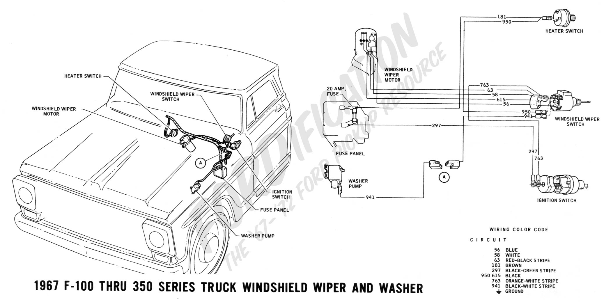 wiring 1967wipers ford truck technical drawings and schematics section h wiring 1971 ford f100 ignition switch wiring diagram at suagrazia.org