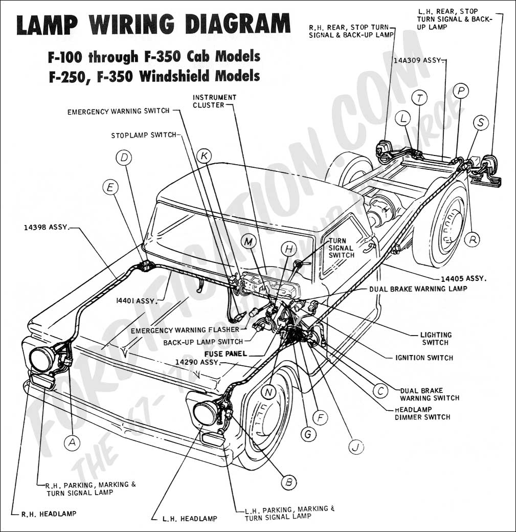 wiring diagram_70ext lights02 ford truck technical drawings and schematics section h wiring 1970 ford truck wiring diagram at bayanpartner.co
