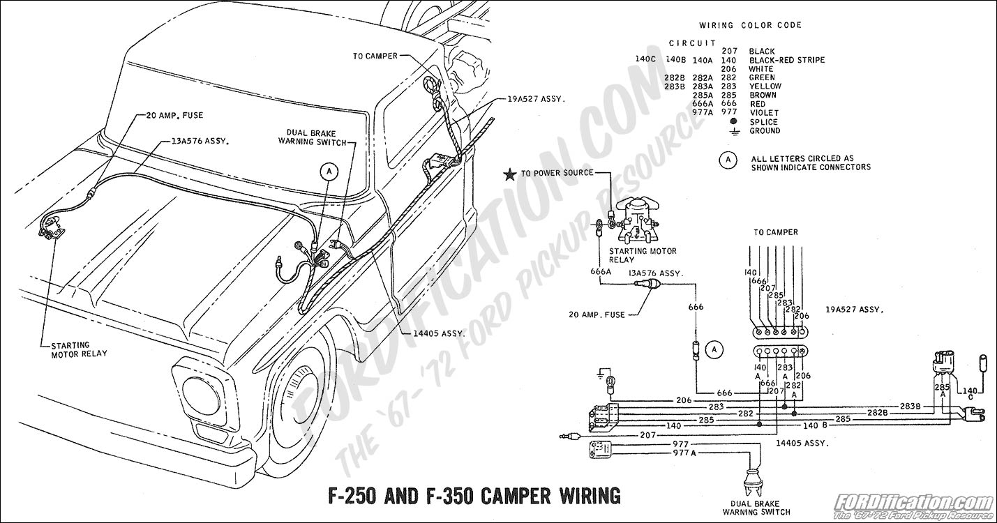wiring_69camper ford truck technical drawings and schematics section h wiring Ford F-250 Lighting Schematic at cos-gaming.co