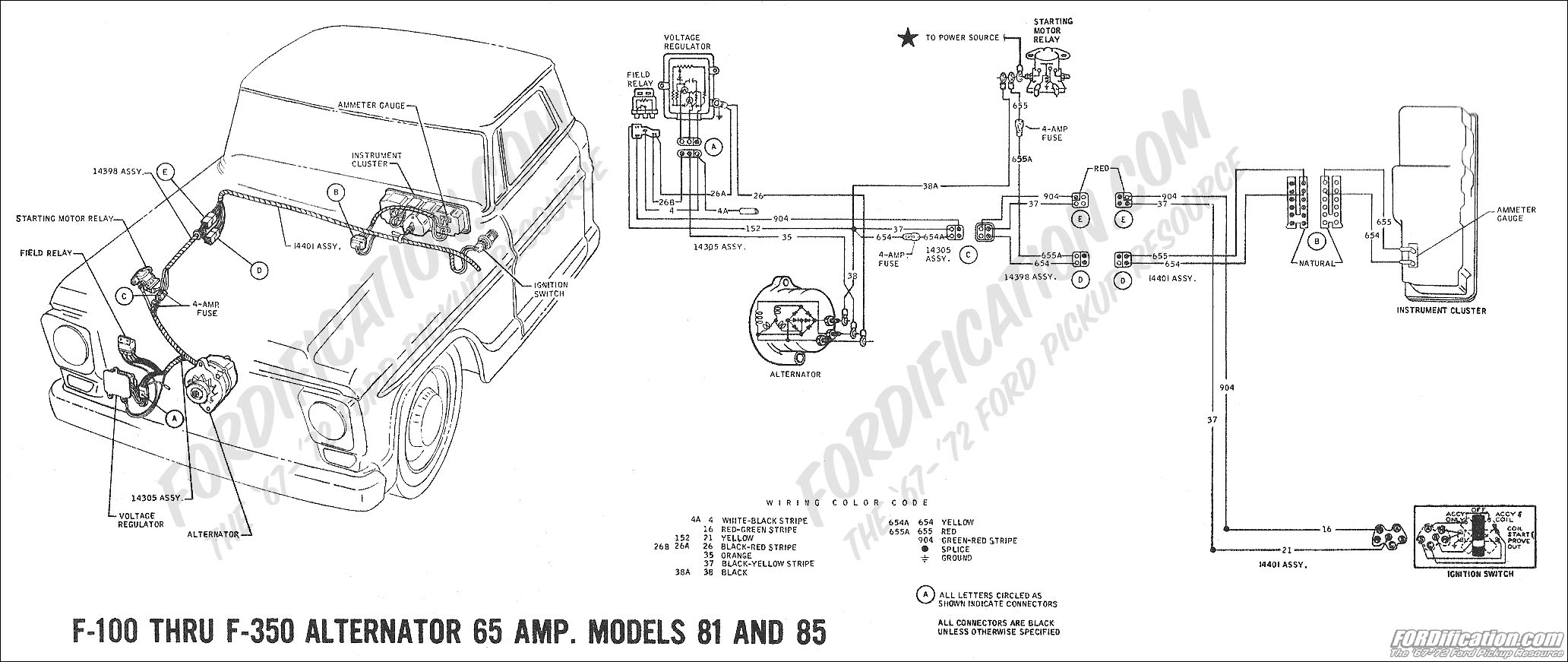 wiring_69charging03 ford truck technical drawings and schematics section h wiring 1975 chevy alternator wiring diagram at honlapkeszites.co