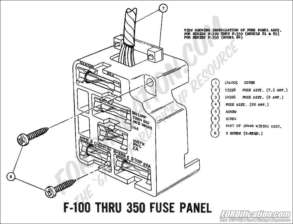 wiring_69fusepanel 72 f100 fuse block ford truck enthusiasts forums ford 4600 fuse box location at gsmx.co