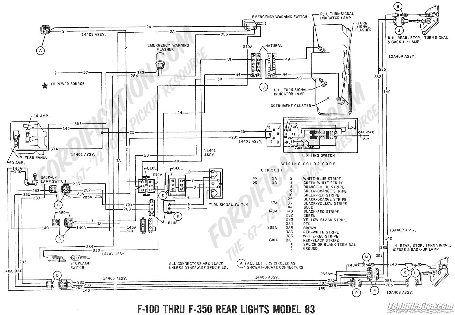 wiring_69rearlights mdl83 2 ford truck technical drawings and schematics section h wiring ford f 250 wiring diagram at webbmarketing.co
