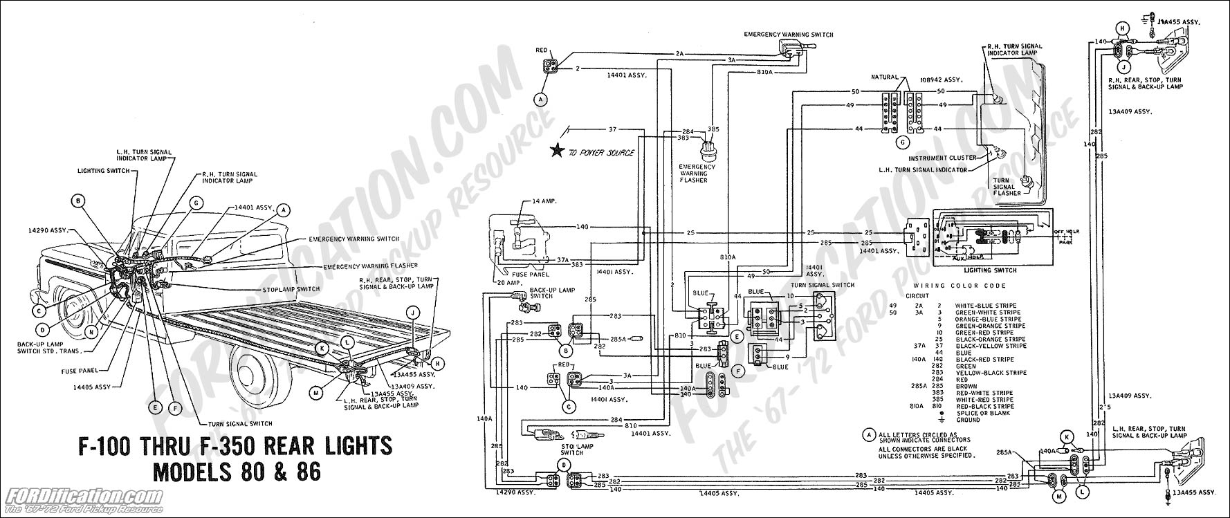 wiring_69rearlights mdls80 86 ford truck technical drawings and schematics section h wiring truck wiring diagrams at bayanpartner.co