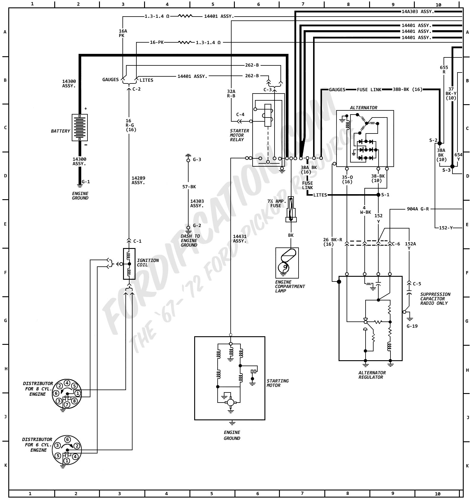 1979 Ford F 350 Alternator Wiring Diagram Will Be A 3 Wire Internal Regulator 1972 Truck Diagrams Fordification Com 1975