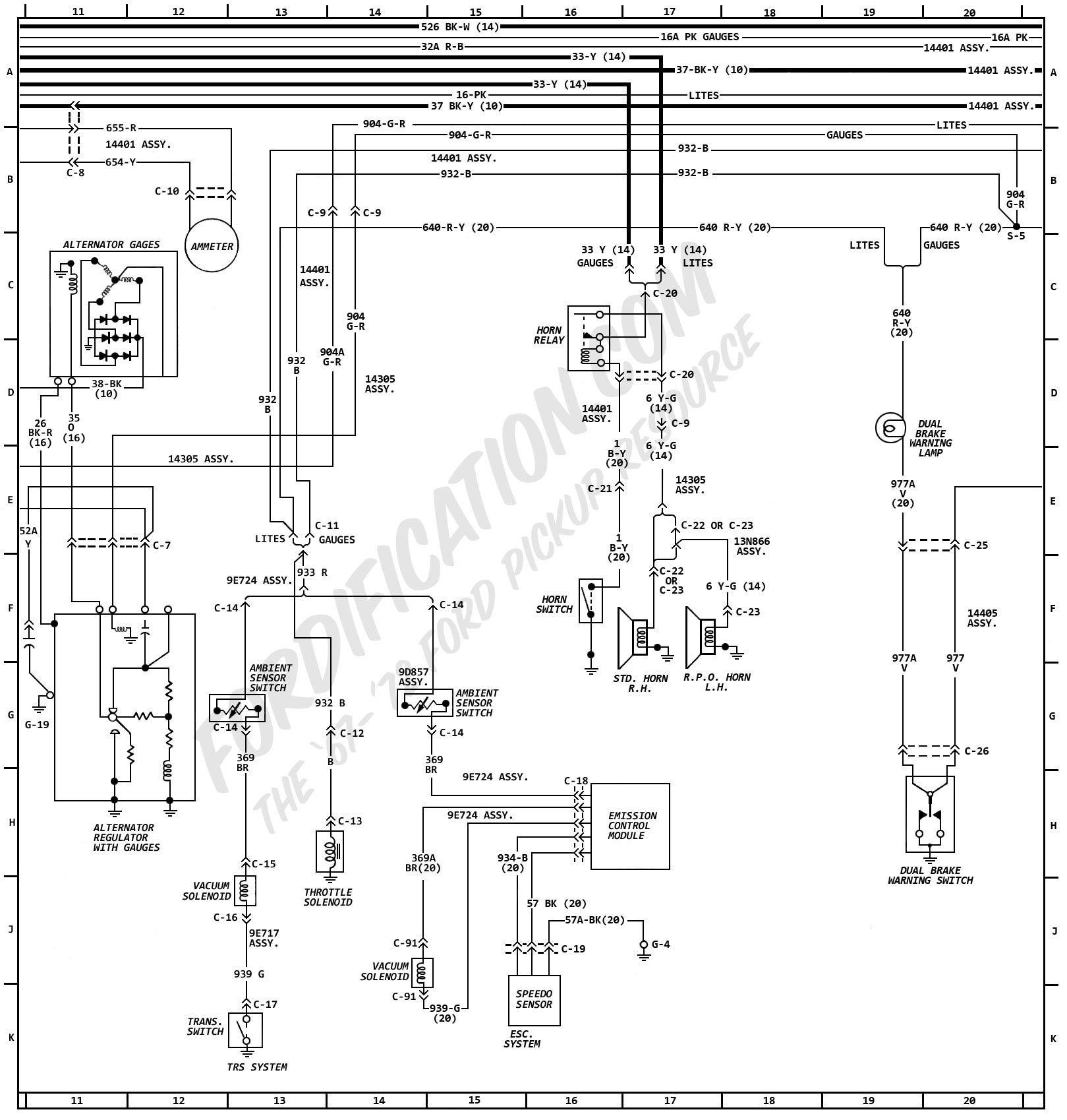 Ford F 250 Wiring Diagram Color Code Free For You Gm 22694036 Ignition Harness 5 Pin Trailer Diagrams F250 1966