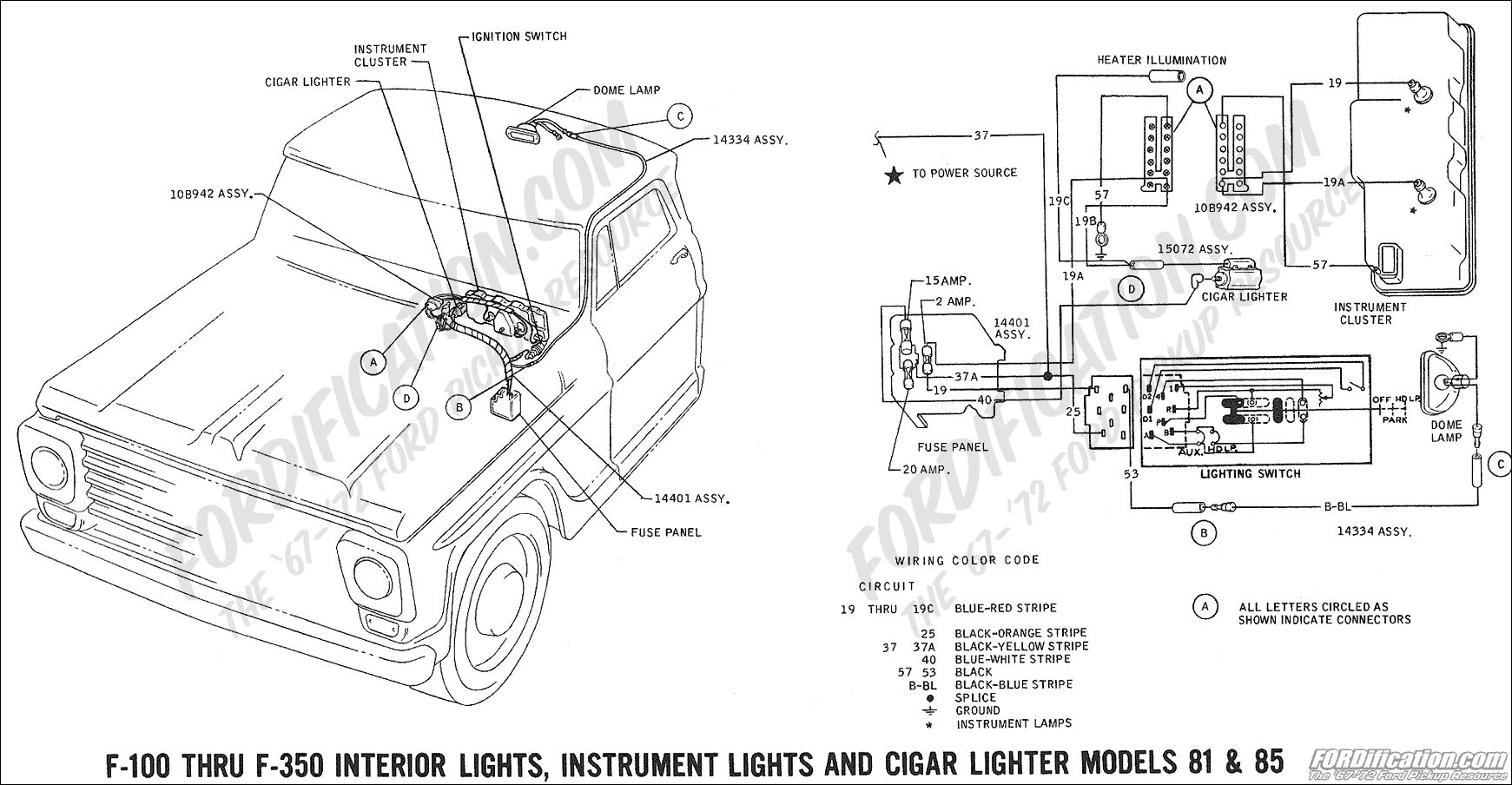 85 f350 dash wiring diagram