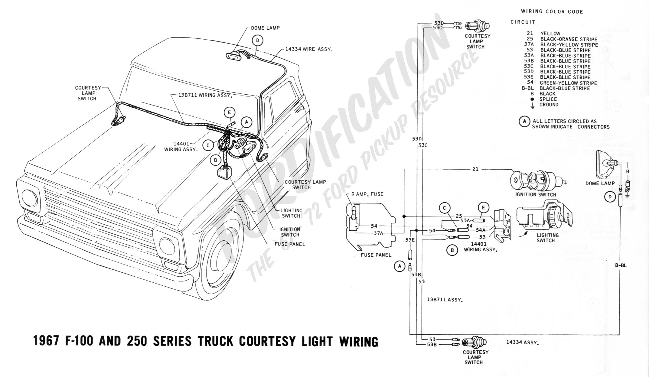 1967 Ford Truck Wiring Diagram Third Level 78 Bronco Horn F150 Todays Tires Pickup